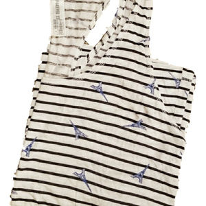 Forever 21 Stripe Tank Top with Blue Eiffel Towers
